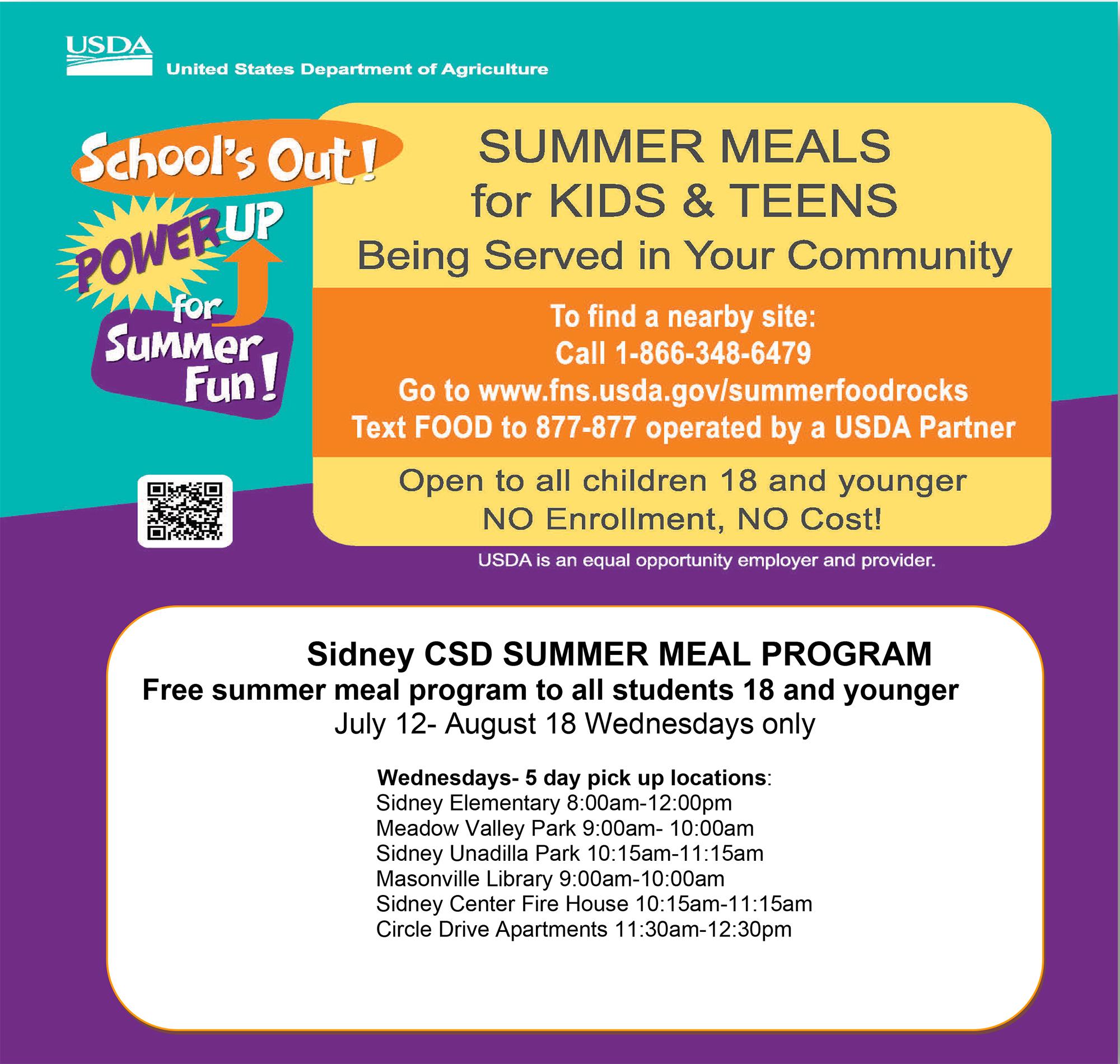Summer meal program info