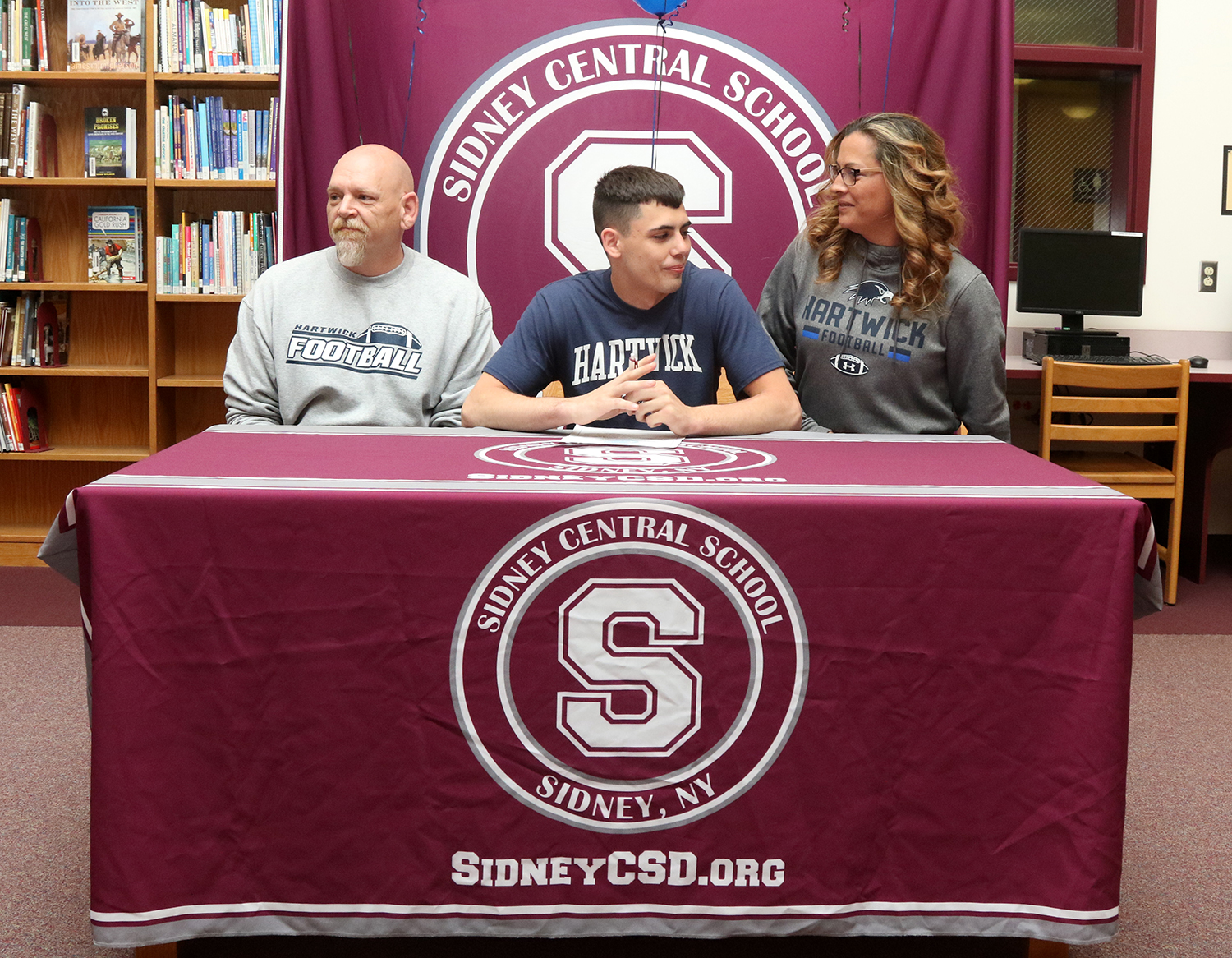 David Gannon signs letter of intent with Harwick College.