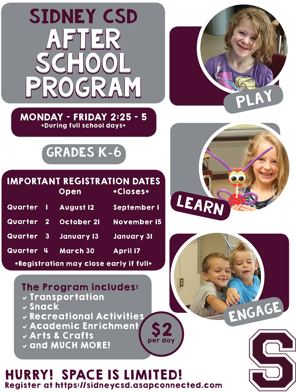 After-school program flyer 2019-20