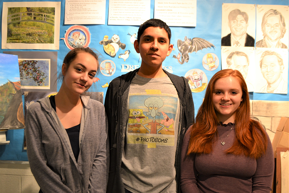 Students selected for Jericho Arts Council's student art showcase