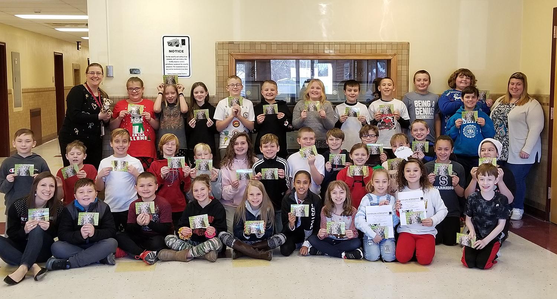 Fifth grade classes adopt leopard