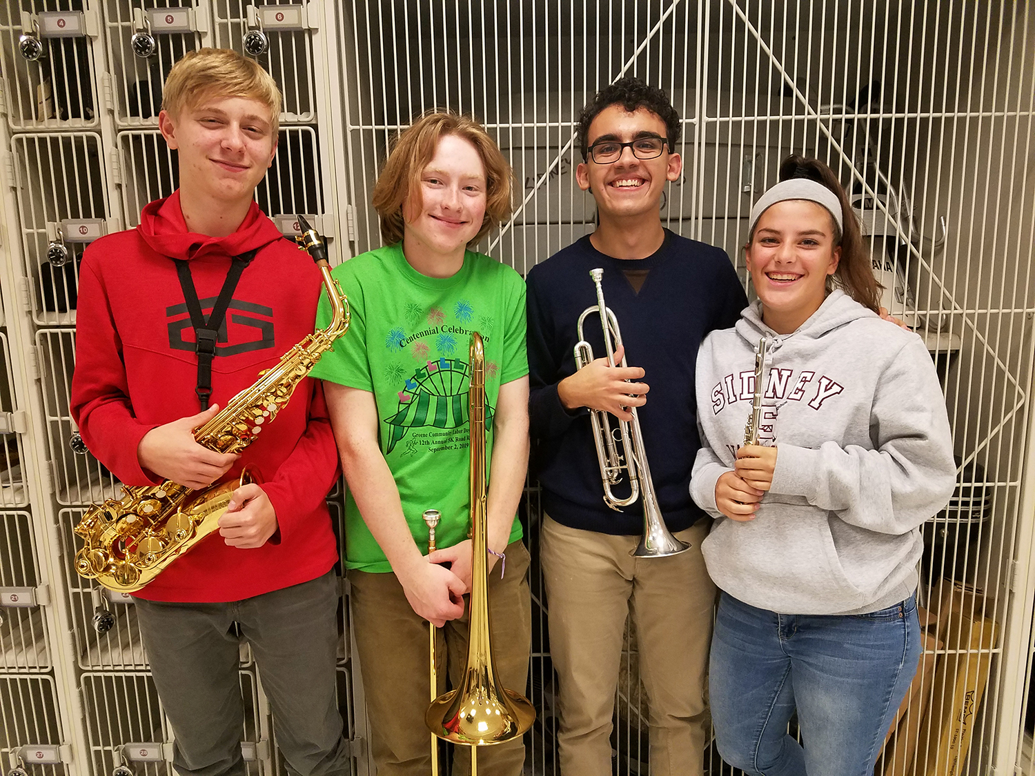 Students representing Sidney CSD for the Hartwick Honor Band
