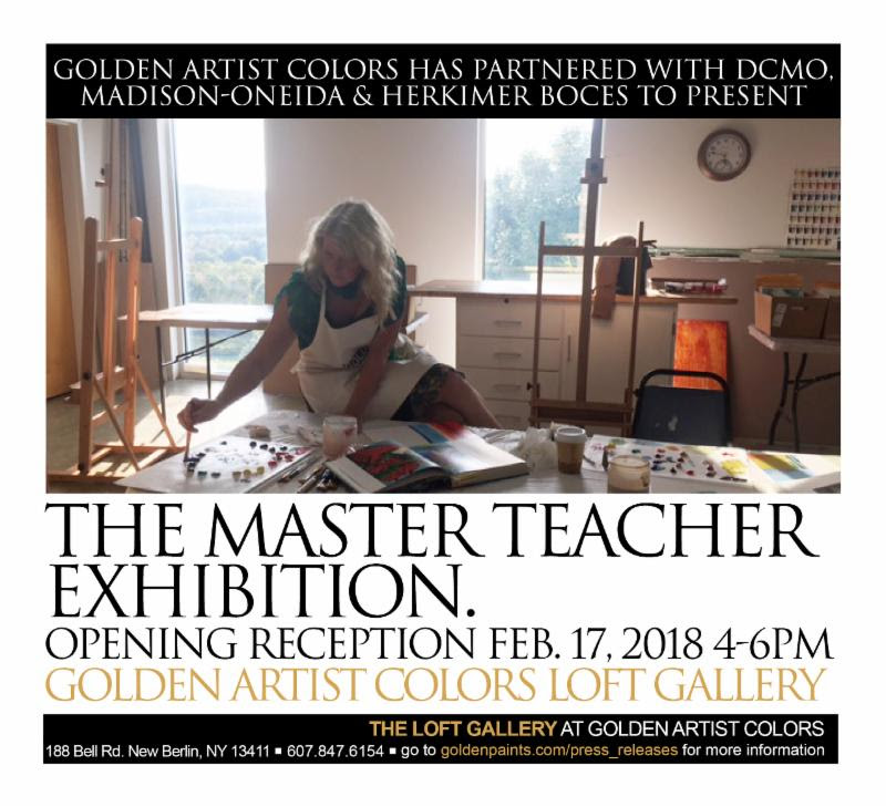 Master Teacher Exhibition poster