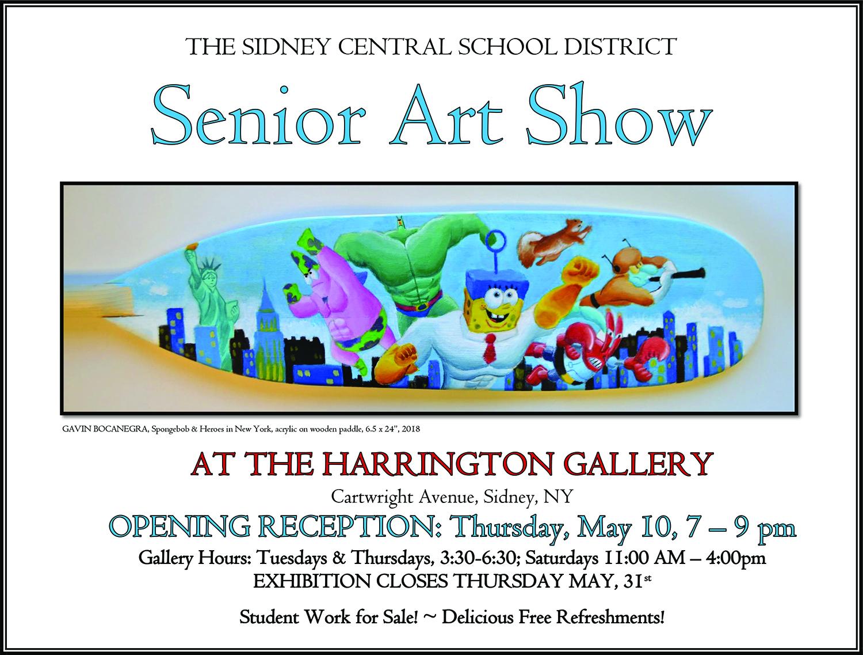 Senior Art Show flyer