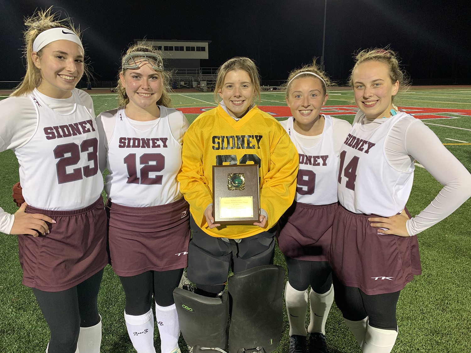Sidney field hockey wins sportsmanship award