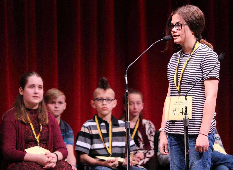 Makayla Ruiz at the regional spelling bee