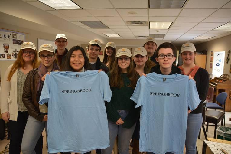 Tri-M students at Springbrook