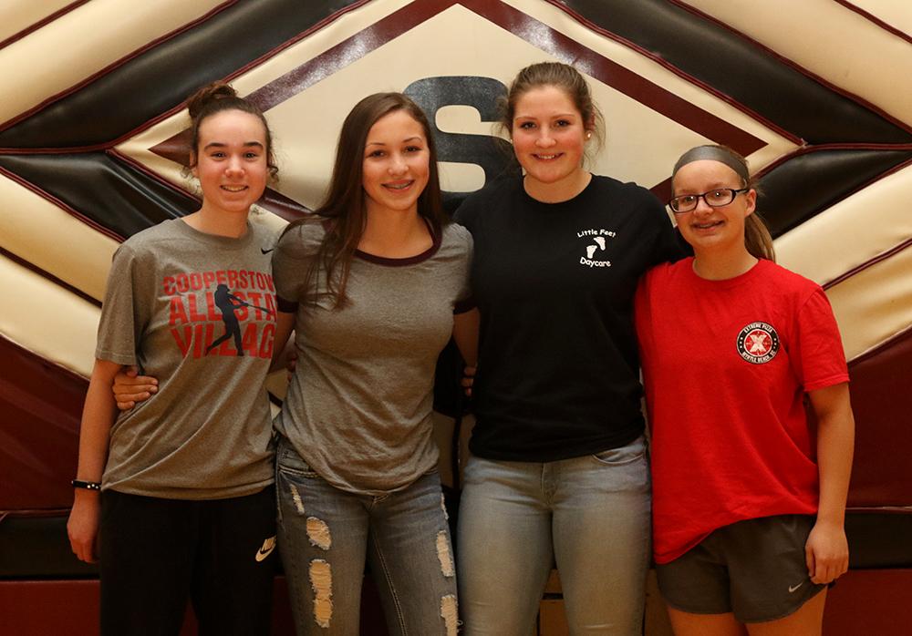 Girls basketball scholar athletes
