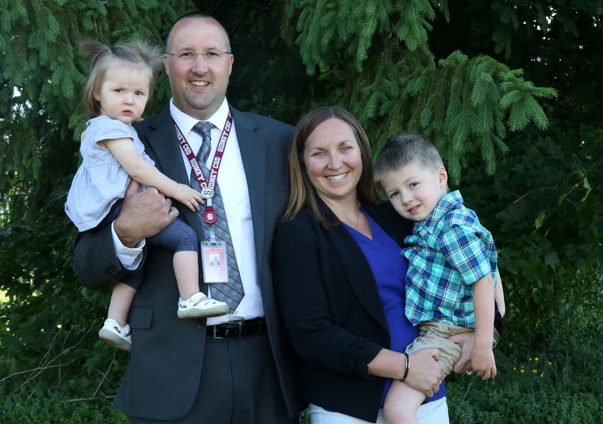 Sidney CSD Superintendent Eben Bullock and Family