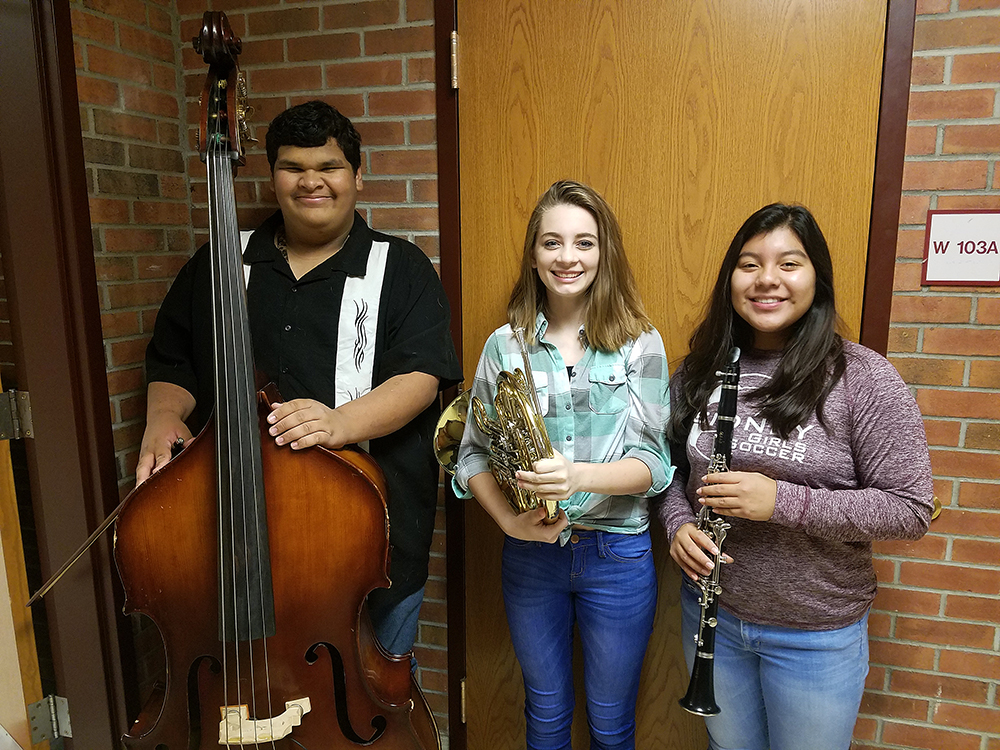 Sidney students participating in concert band for area all-state