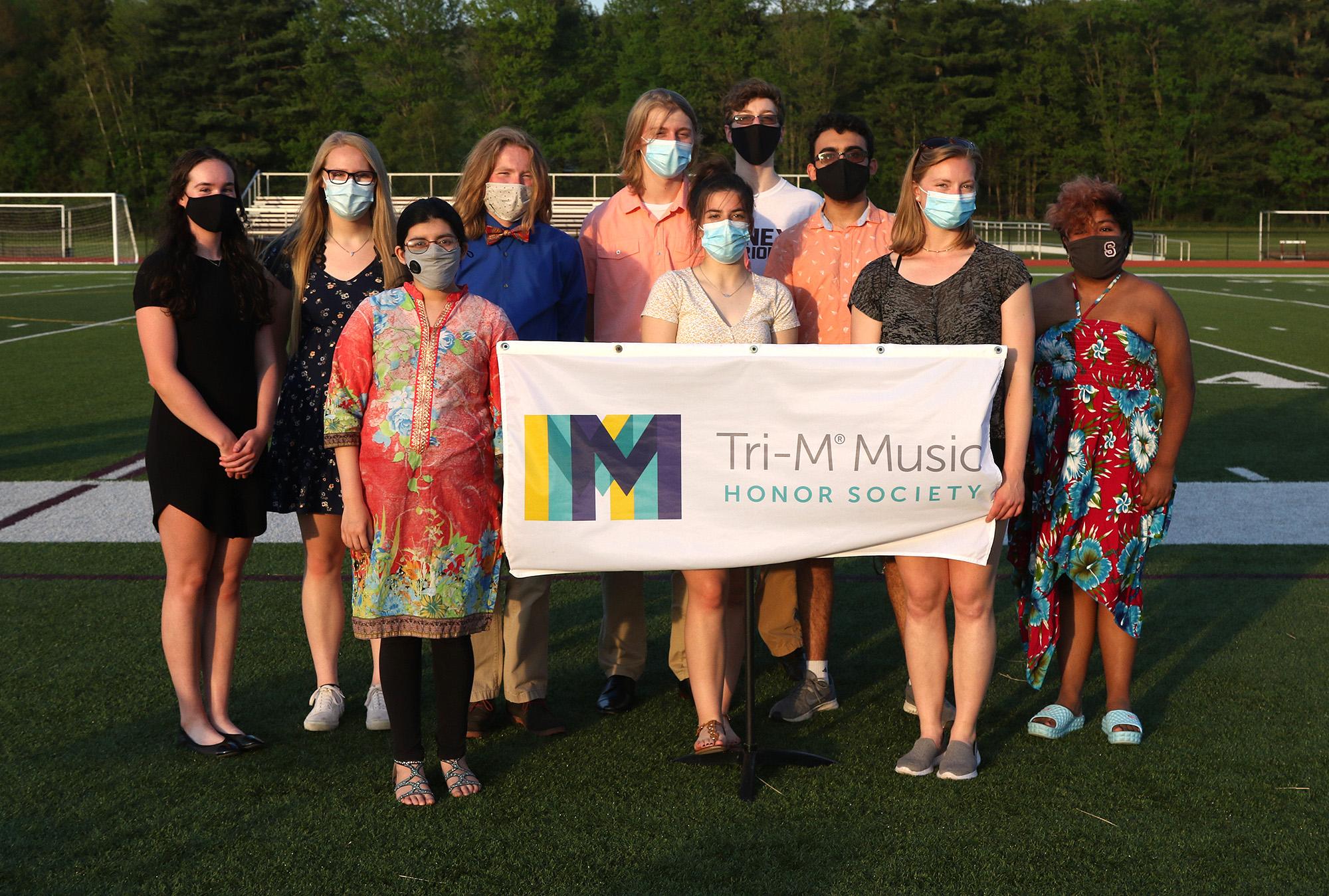 Sidney CSD Tri-M Music Honor Society members.