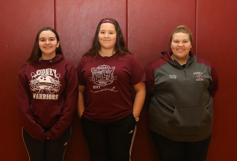 Girls bowling scholar athletes