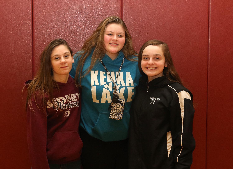 Girls indoor track scholar athletes