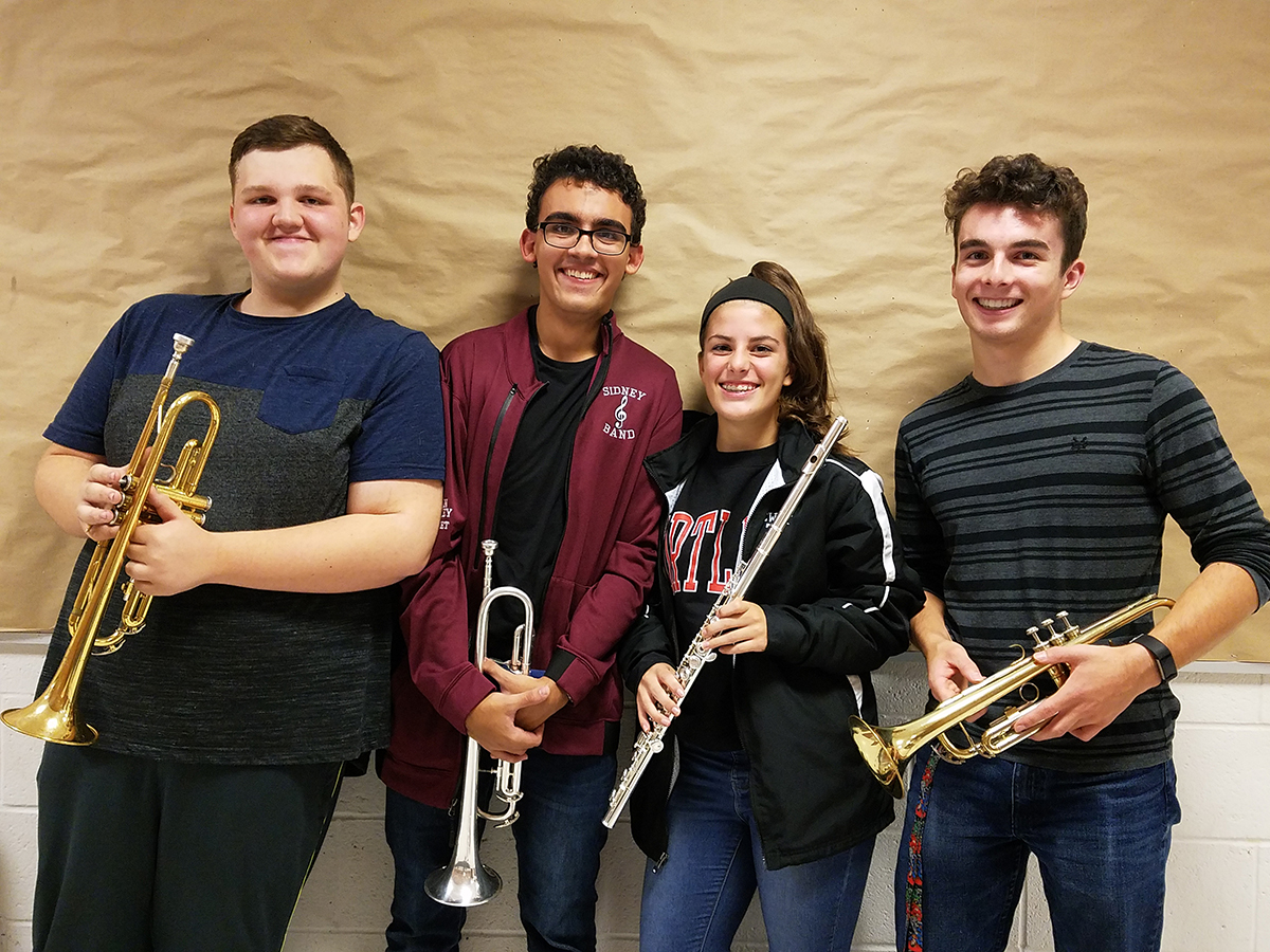 Sidney students participating in Honor Band