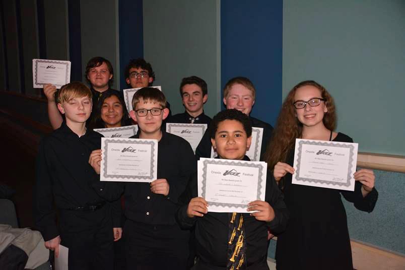 Jazz Ensemble all-stars at Oneida
