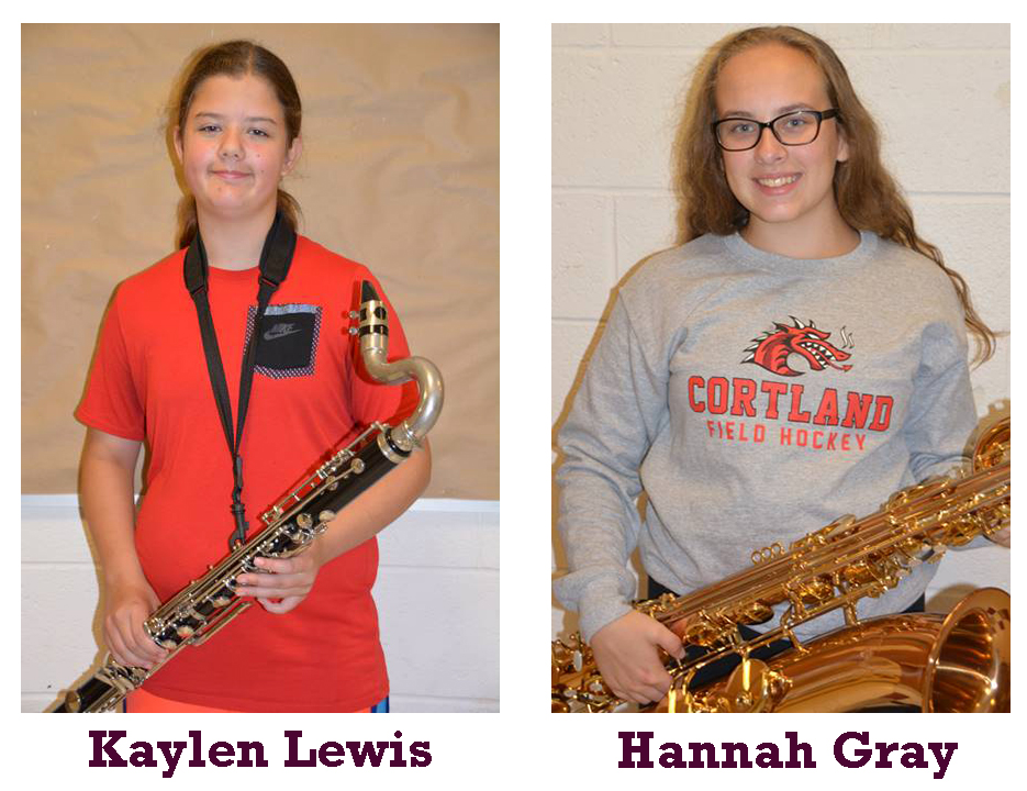 Band Members of the Month
