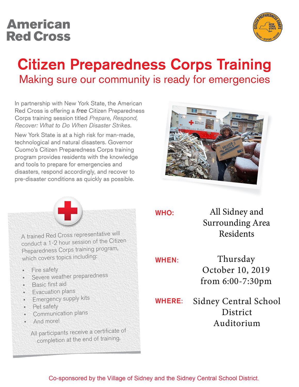 Red Cross flyer
