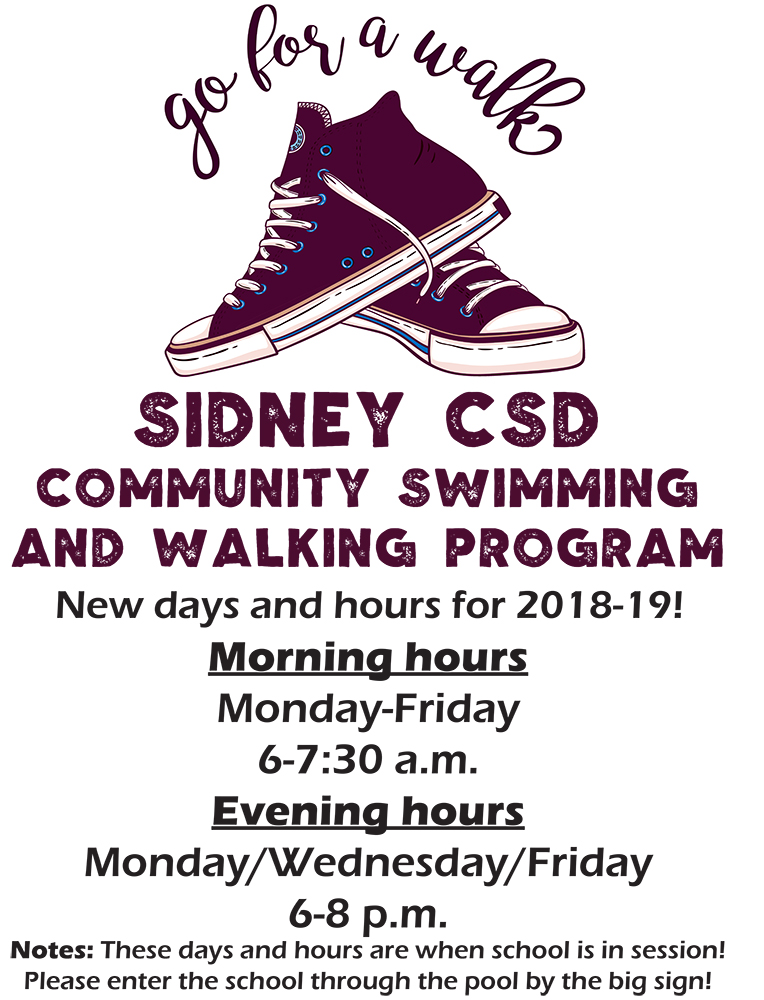 Sidney CSD walking and swimming program