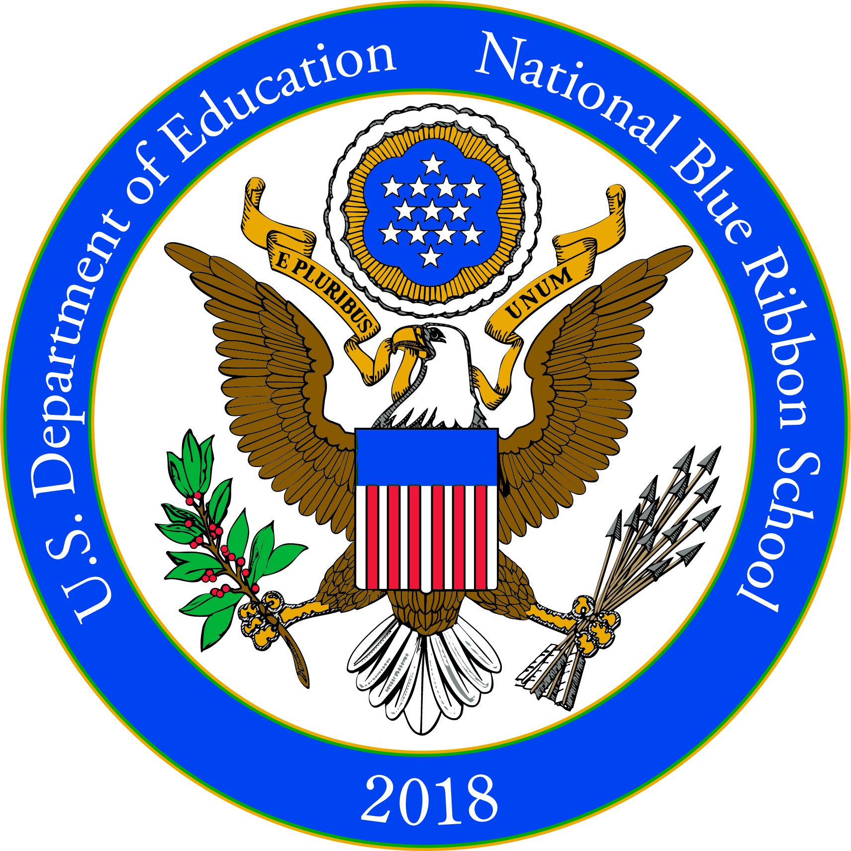 logo of national blue ribbon school