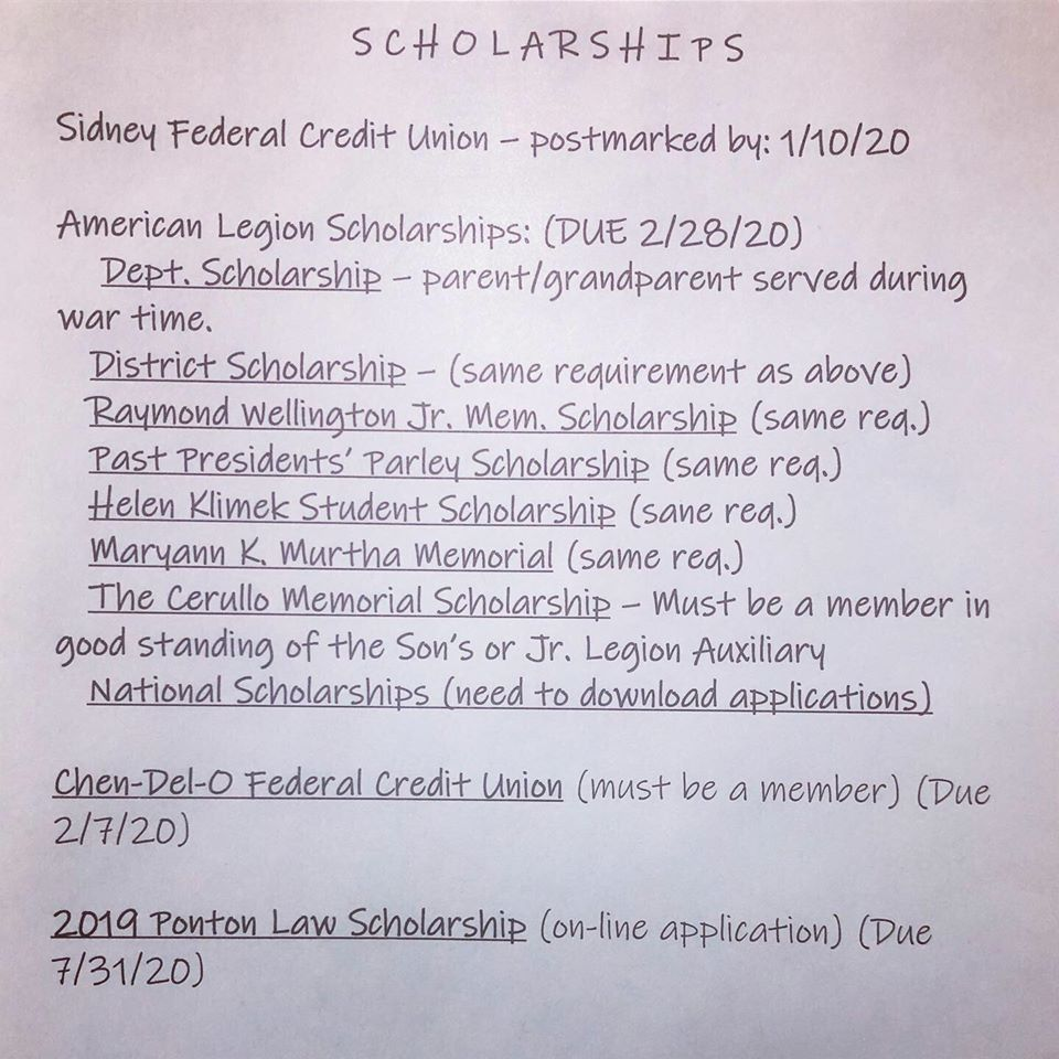 image of scholarships