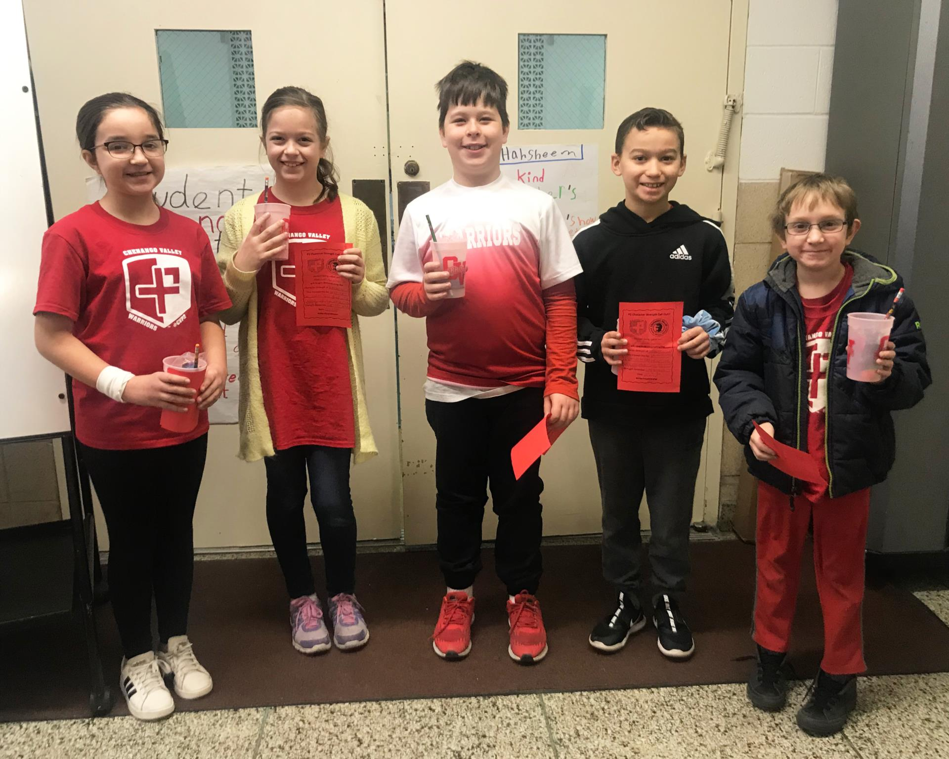 students recognized for chenango bridge character call out program