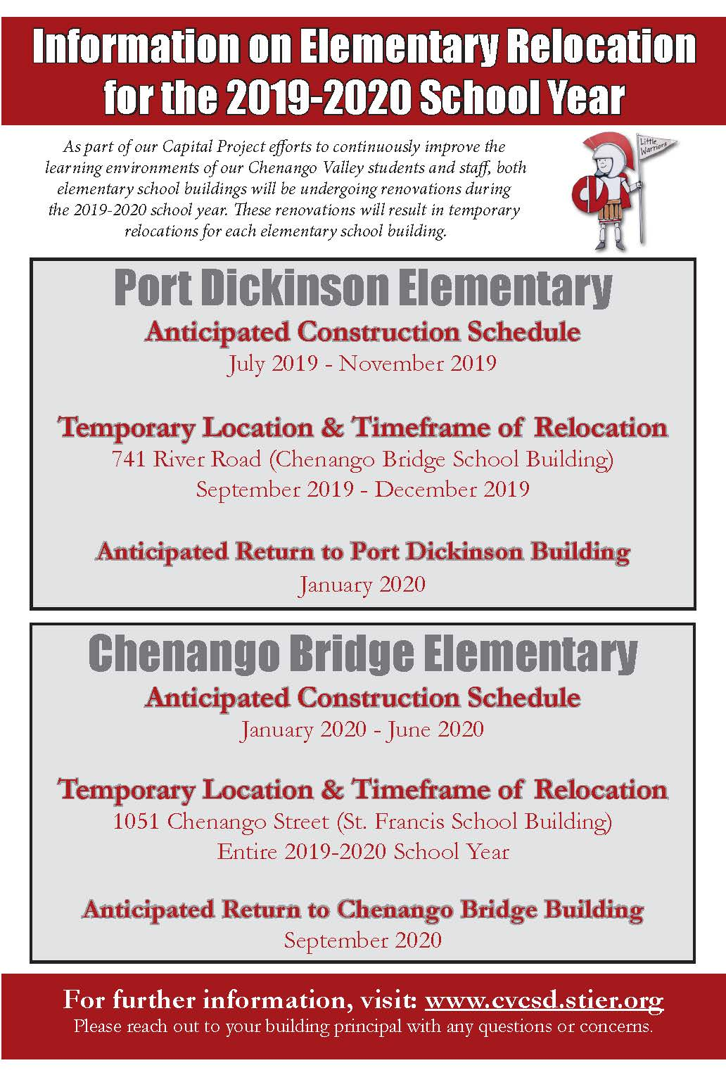 2019-20 Elementary Relocation Poster