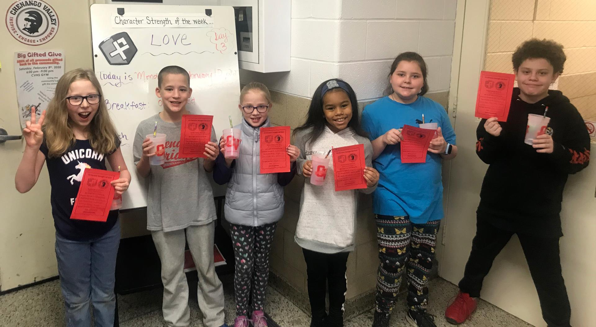 students recognize for character call out program