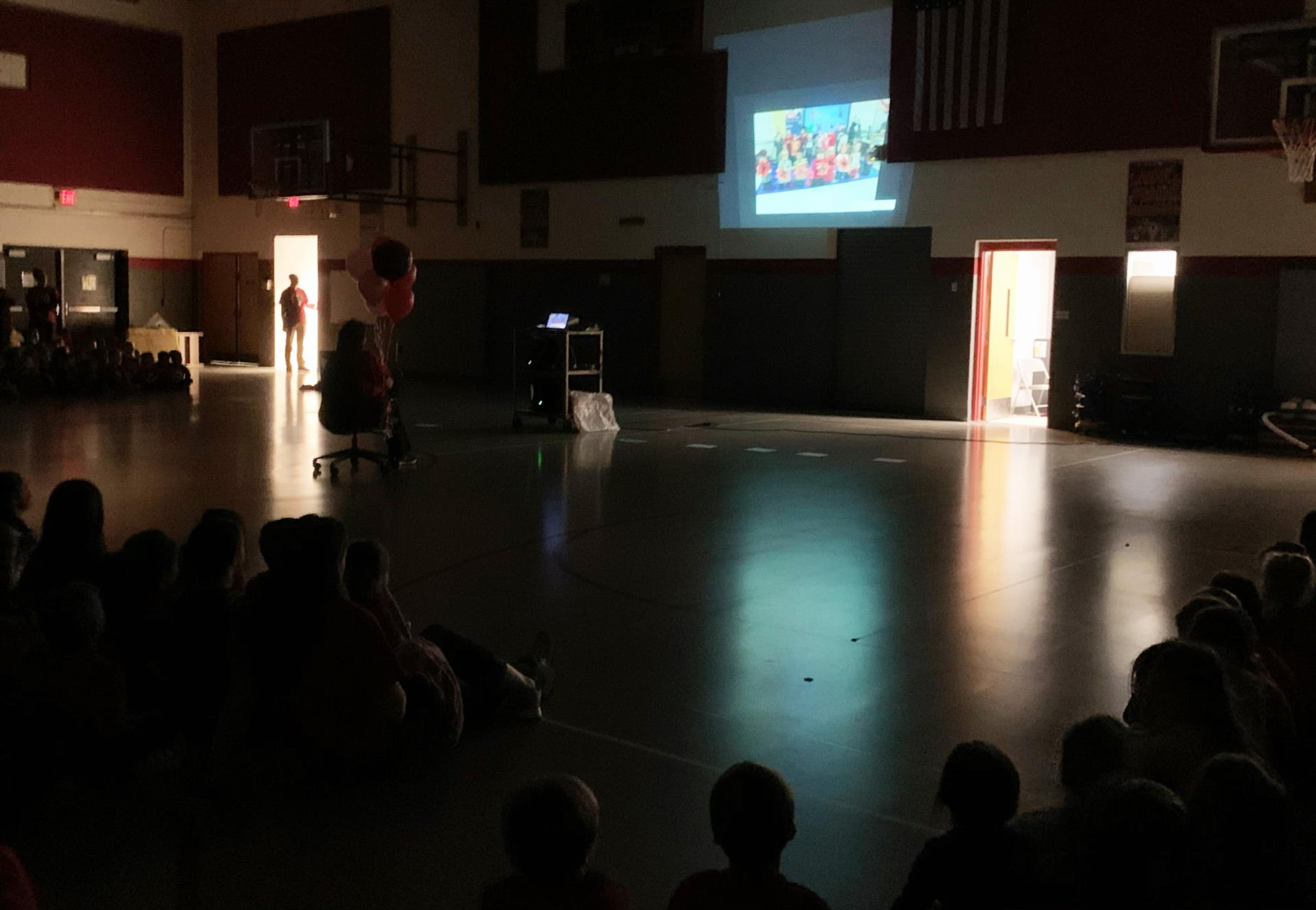 principal hammond watching thank you video