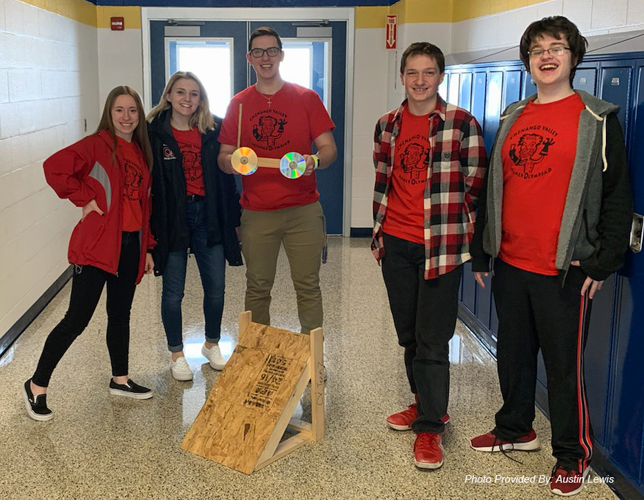 group of chenango valley students at science olympiad event