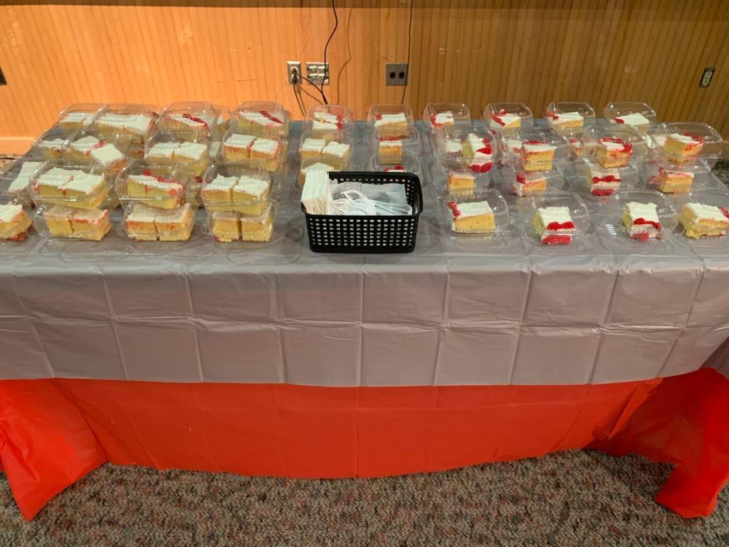 cake at board meeting