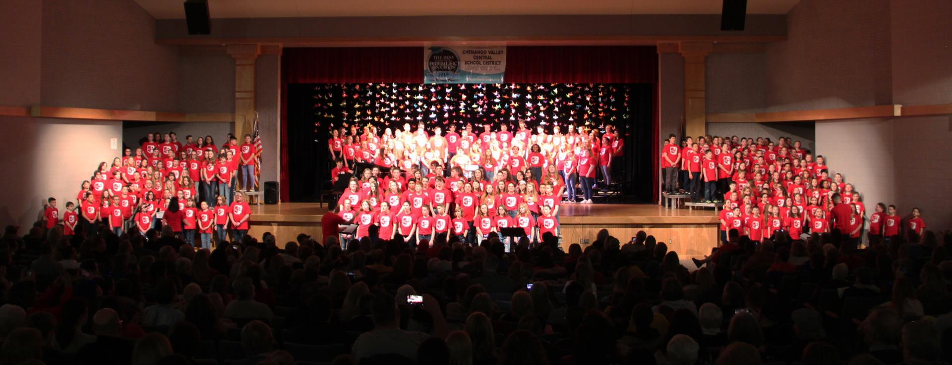 wide shot of district choral concert