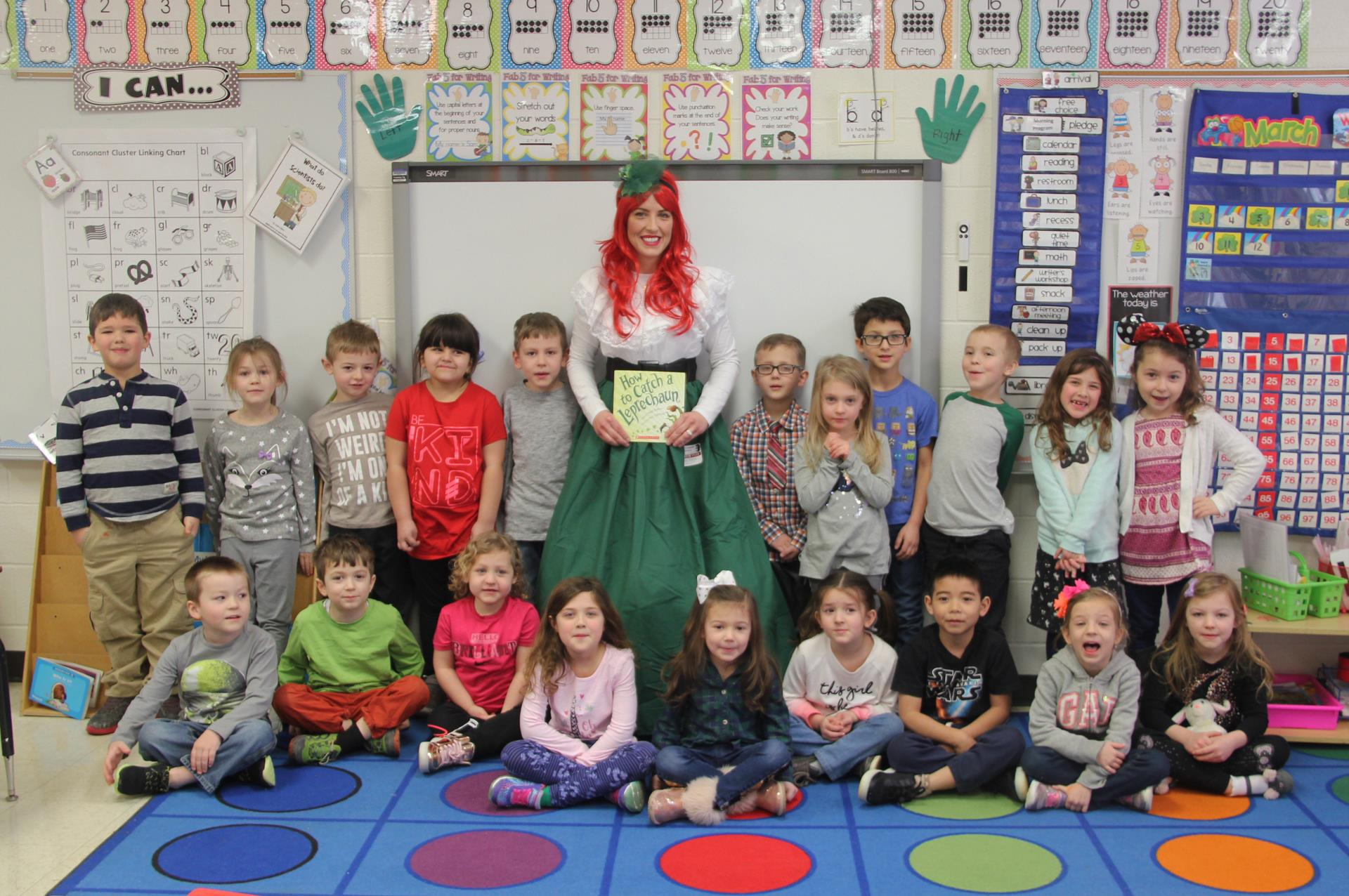 port dickinson class with the leprechaun lady