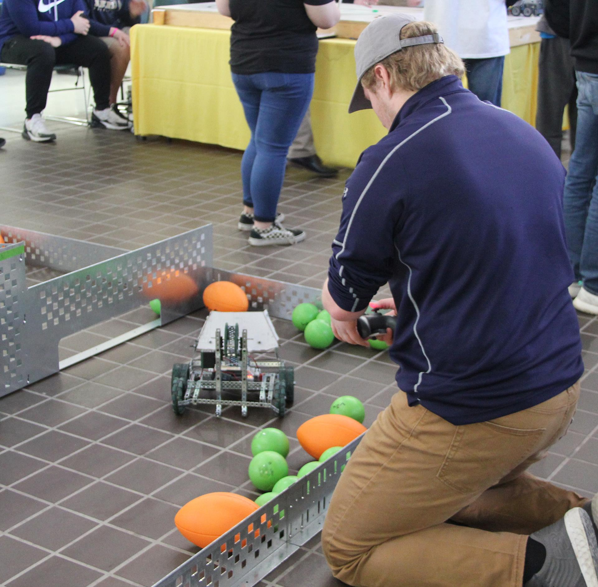 chenango valley student taking part in robotics challenge