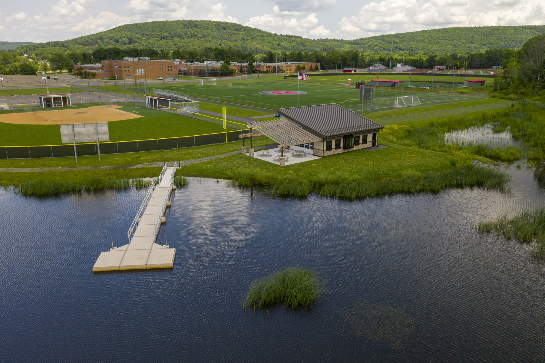 another overhead view of outdoor learning center