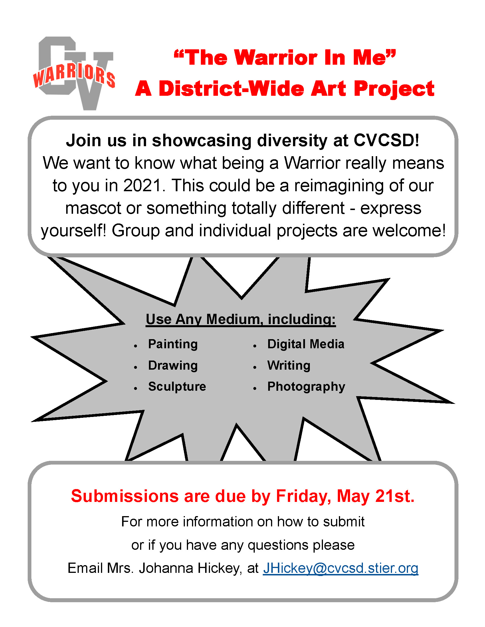 Warrior in Me Art Project Description