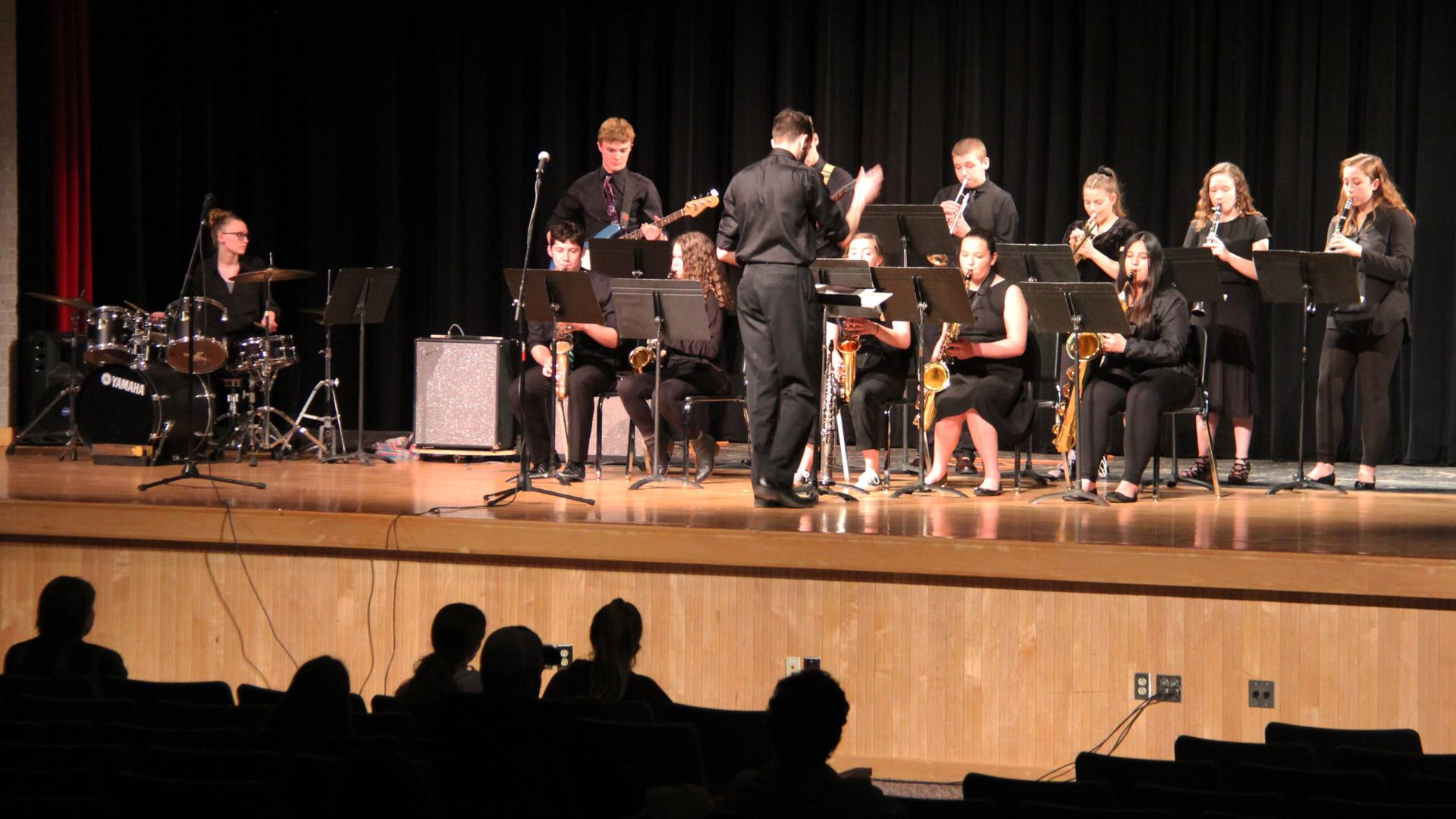 students playing instruments at pops concert