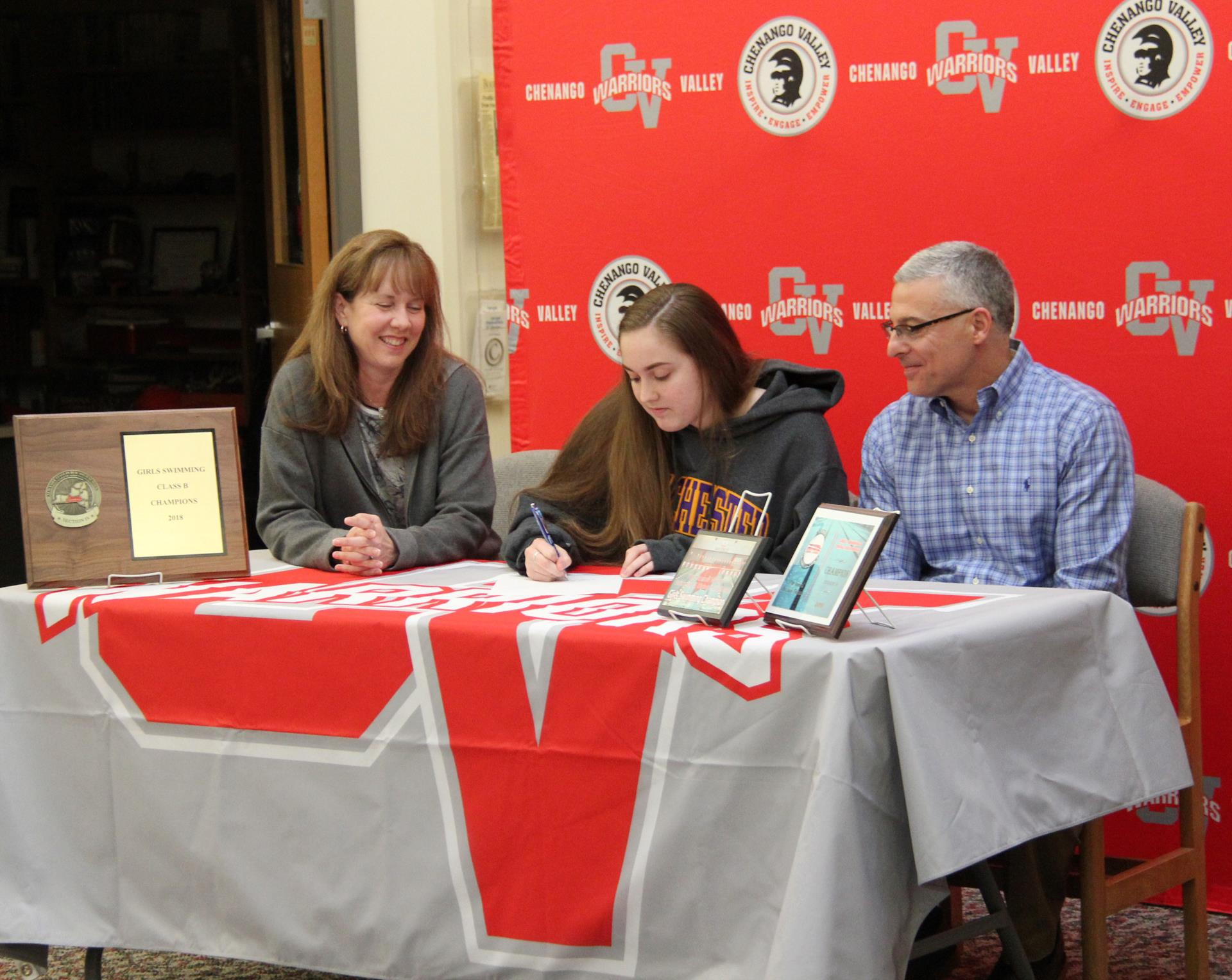 Paige Lettera signing letter of intent