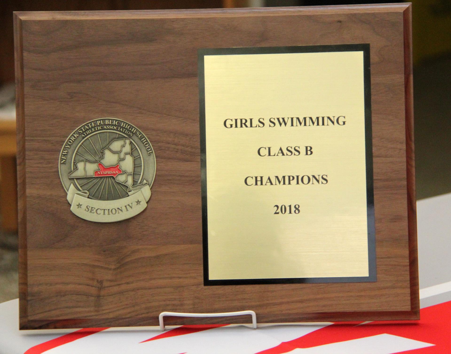 class b champions plaque
