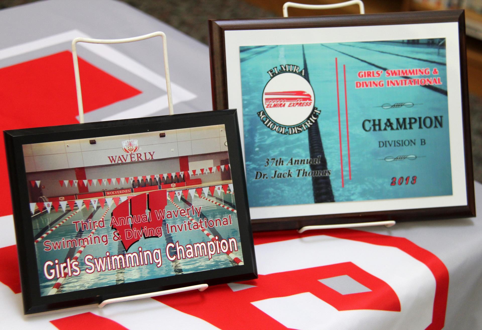 swim awards signs