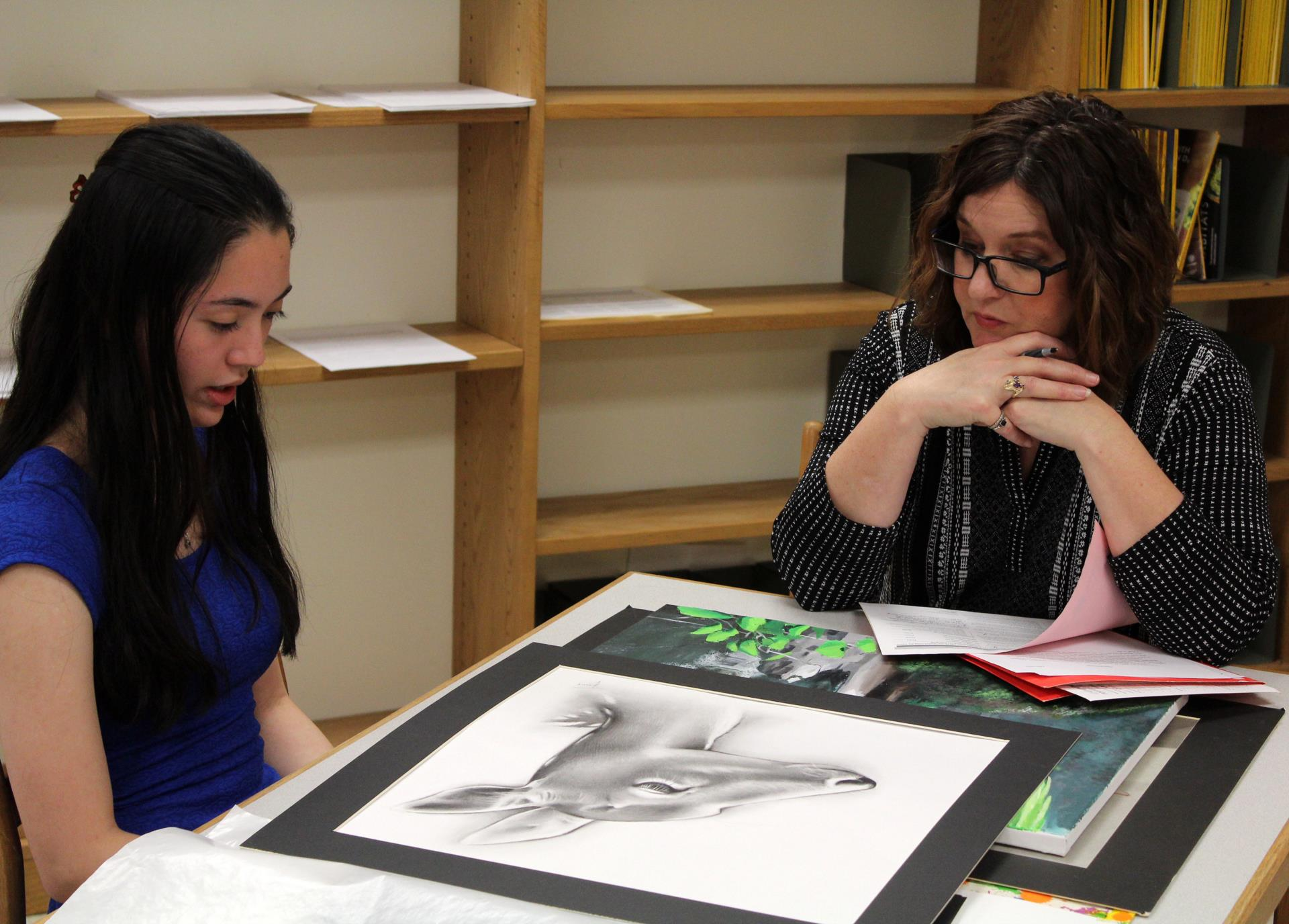 student participating in NYSATA Portfolio Project 5 of 8