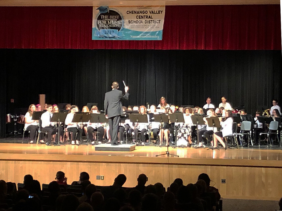 band performing in spring concert