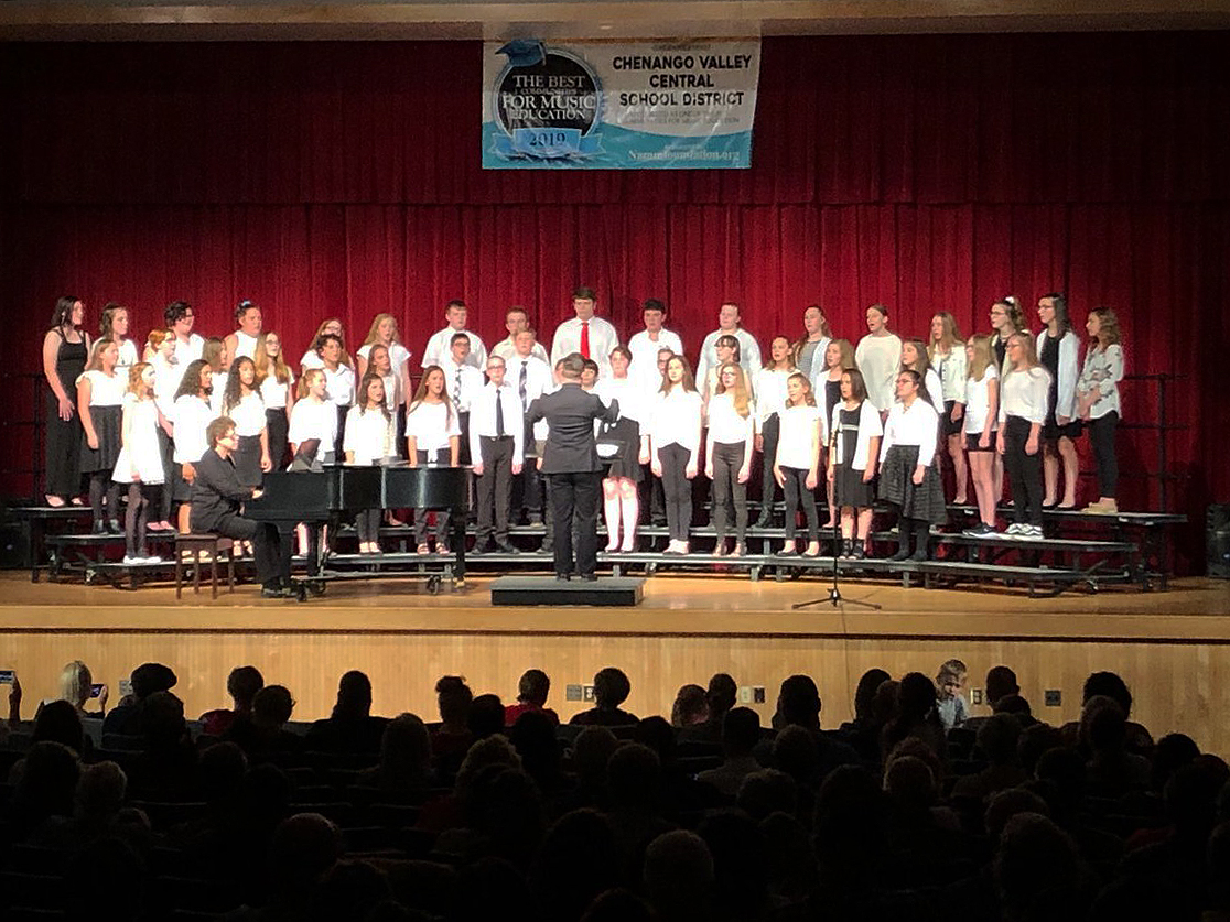 additional students singing in spring concert