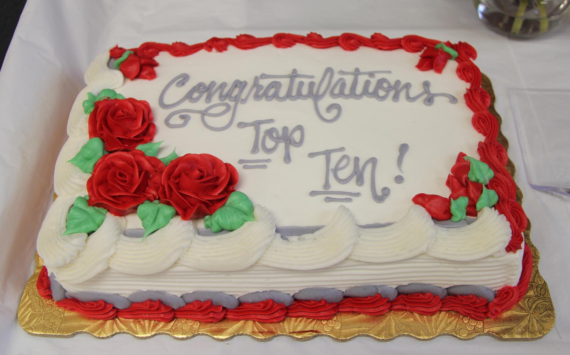 congratulations top ten cake
