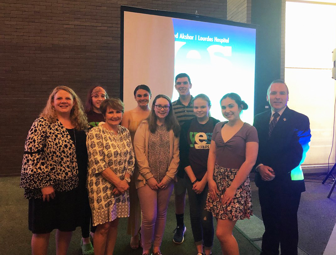 chenango valley students and staff at yes leads event