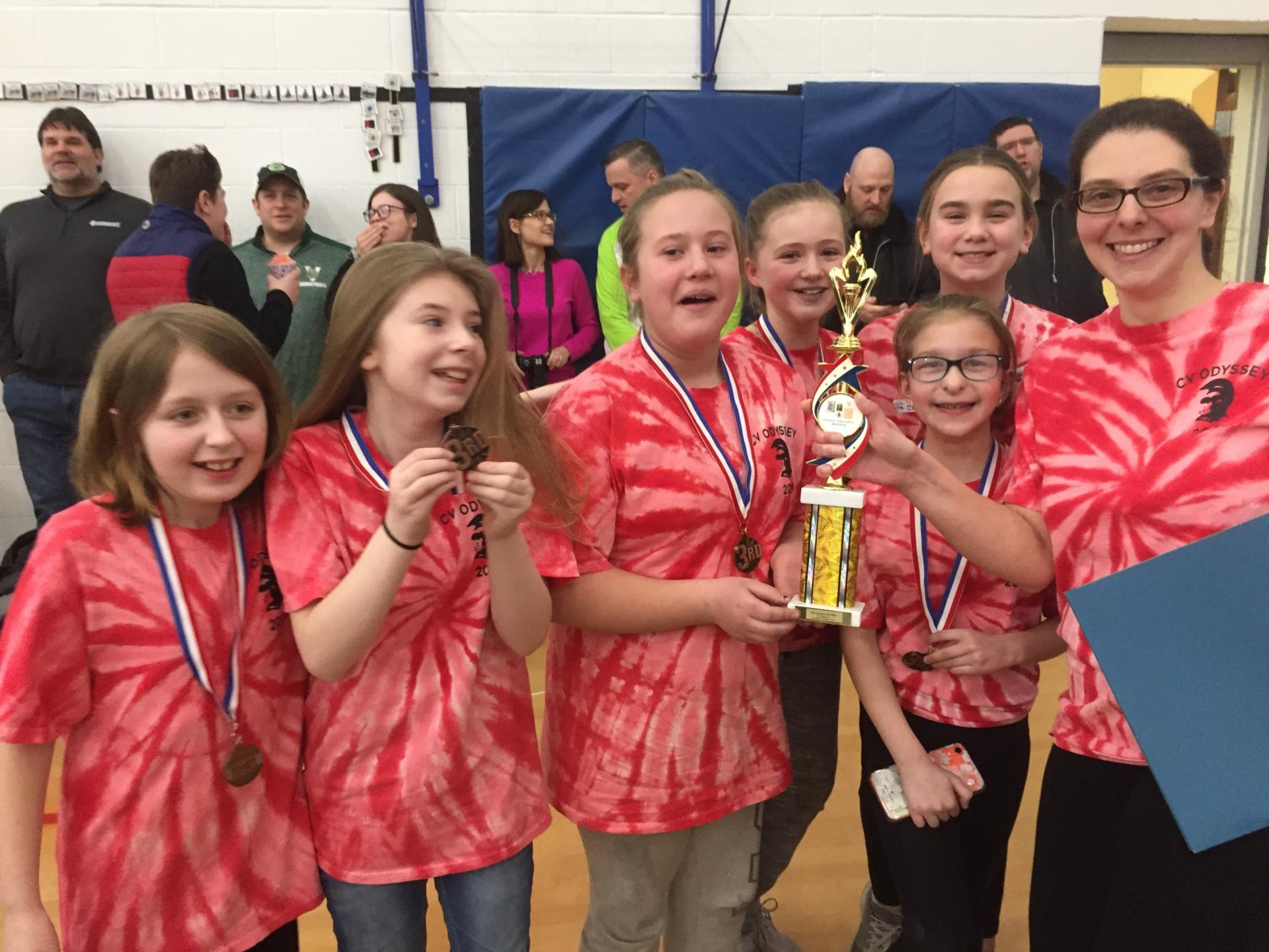 chenango valley fifth grade odyssey team