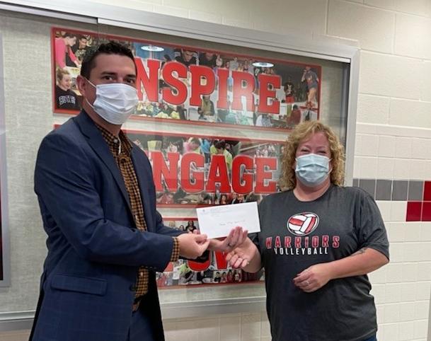 Warrior Fund Donation being presented