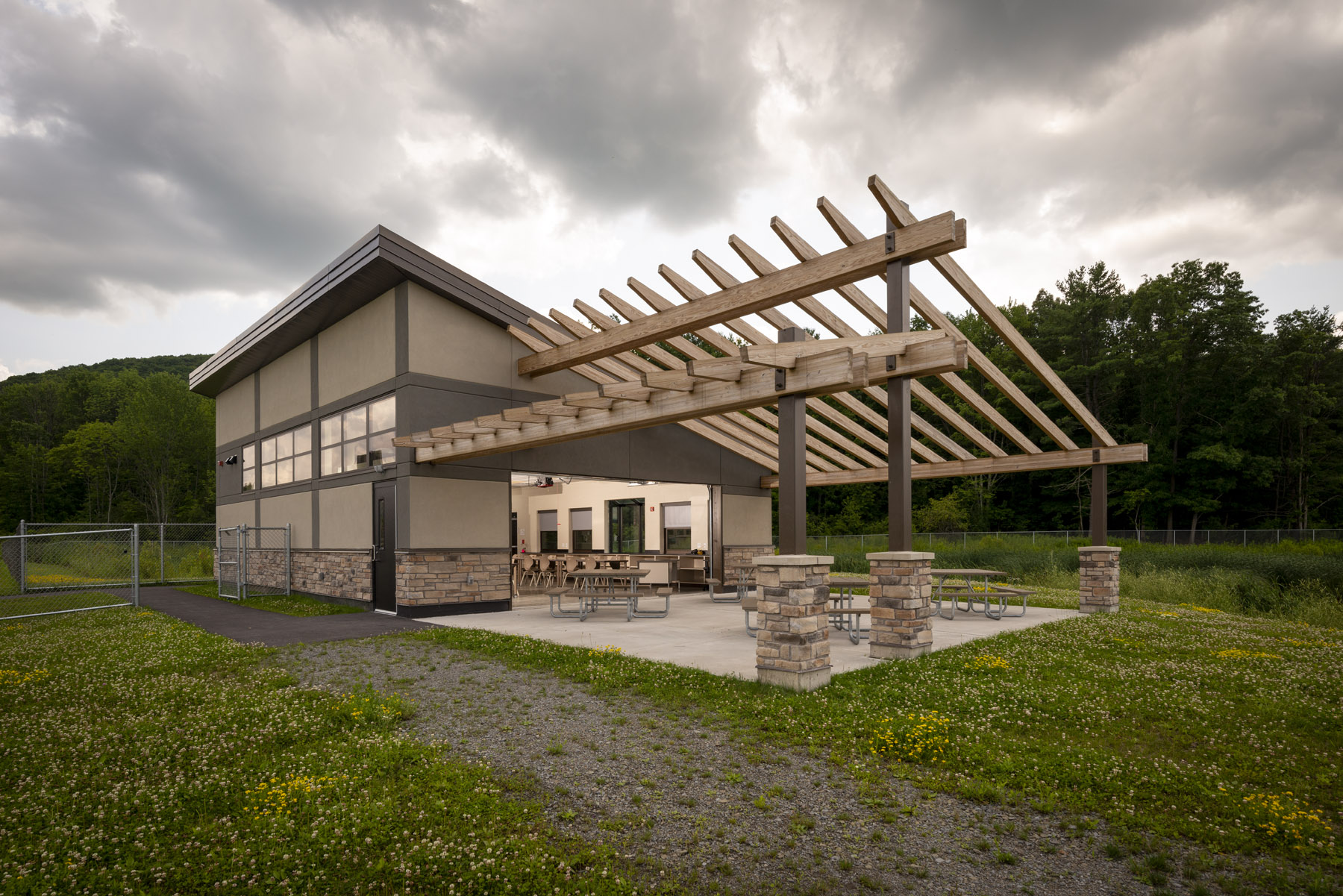 front of outdoor learning center