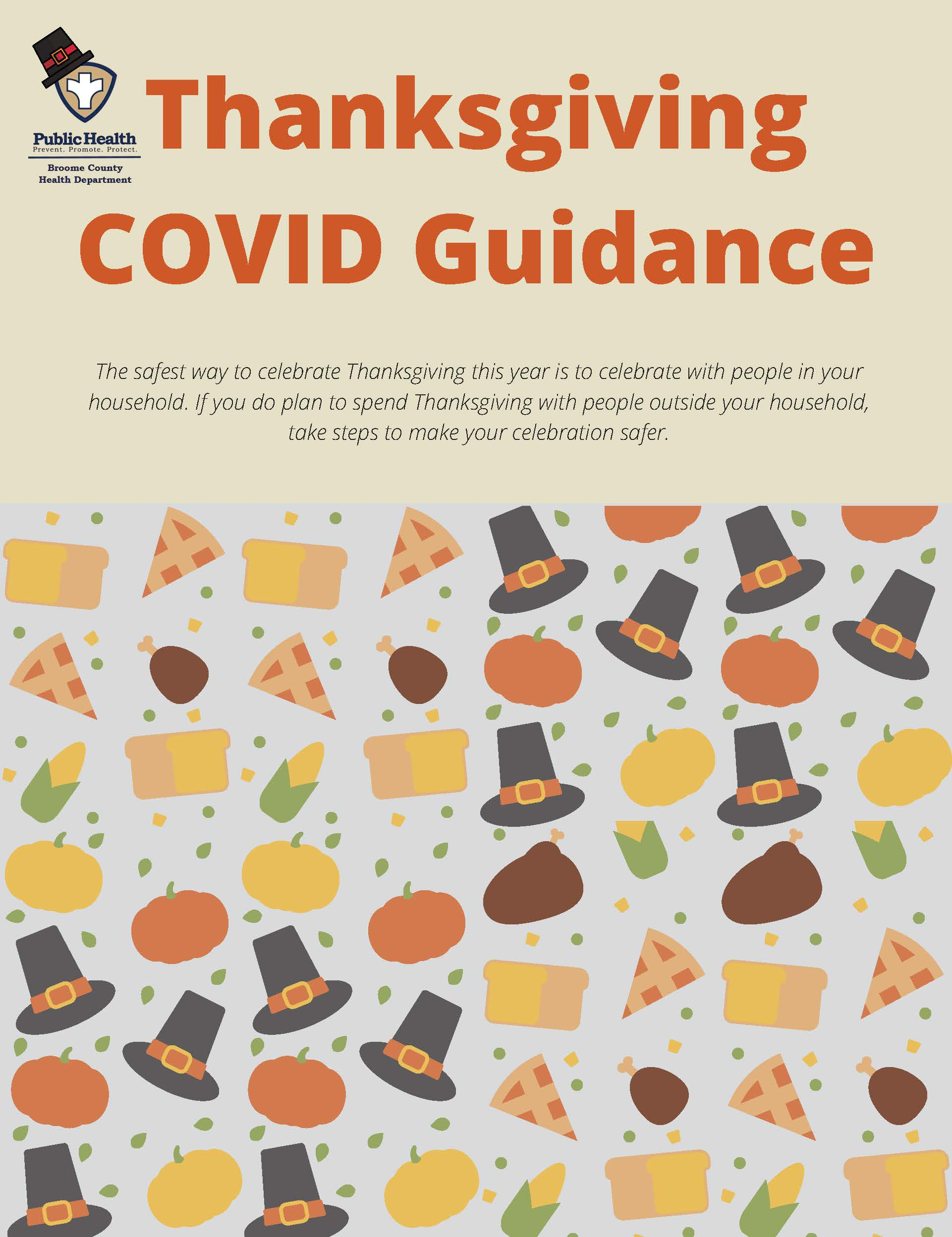 Thanksgiving COVID Guidance from Broome County Health Department