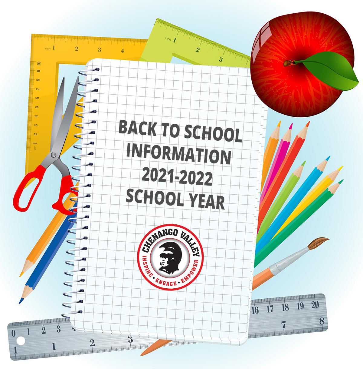 Back to school information 2021-2022 school year