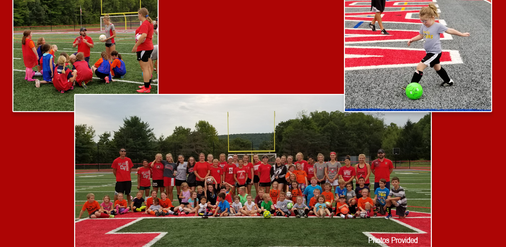 people taking part in youth soccer clinic photo 1 of 2